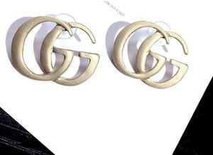 New Designer Full Rhinestone Lettera nappa orecchini per le donne moda orecchino a perno gioielli regali oro e argento