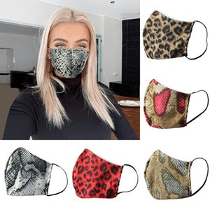Leopard Printed Face Masks 9 Colors Double Layer Anti Dust Washable Riding Cycling Outdoor Mouth Covers OOA8043