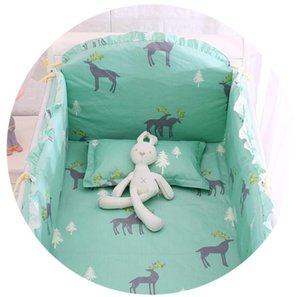 6 9PCS Elk baby bedding sets baby bed protection baby crib bumper Safety teen room decor 120*60 120*70cm
