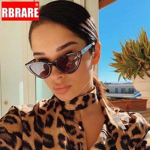 RBRARE 2020 Cat Eye Shade For Women Sunglasses Vintage Transparent Triangular Cateye Sun Glasses Sexy Retro Leopard Oculos