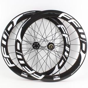 En Yeni 700C 38/50 / 60 / 88mm Yol bisiklet 3K UD 12K tam karbon bisiklet tekerlek seti karbon boru şeklinde düğüm noktası tubeless jant disk fren göbekleri Ücretsiz gemi