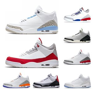 Nike Air Jordan 3 Retro Hombres diseñador zapatos de baloncesto Tinker Mocha Katrina JTH NRG Línea de tiro libre Cemento negro Corea Blanco Trainer superior Zapatilla deportiva