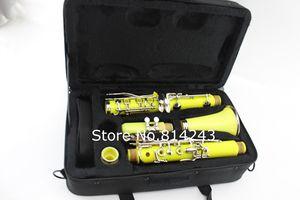 MARGEWATE 17 Ключи Желтый ABS кларнет Bb Tune B Flat кларнет Музыкальный инструмент с Case аксессуары