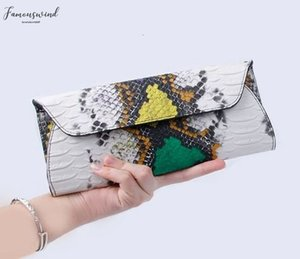 Serpentine Pu Leather Handbags Day Clutches Fashion Women Messenger Bags Crocodile Pattern Genuine Leather Womens Wallets Bag
