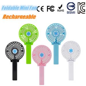 Handy Foldable USB Fan Mini Handheld Portable Fans Ventilador recargable para el dormitorio del estudiante de la oficina en casa al aire libre