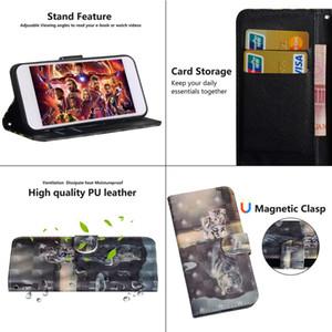 Cuoio di vibrazione di caso per Fundas Xiaomi redmi Nota 8T Caso redmi 8 8A copertura Xiaomi redmi Nota 8 Pro cassa del raccoglitore 8T 8A 3D Cover