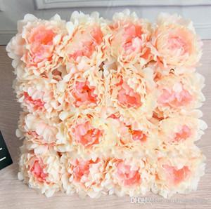 Горячие 10шт Искусственные цветы Шелковый цветок пиона Heads партии Свадебные украшения сада Simulation Поддельный цветок домой украшения 12см