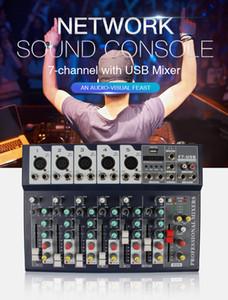 Портативная мини 7 каналов цифрового аудио интерфейс Mixer Console с USB Bluetooth для ночного клуба DJ Home Studio PC Laptop Computer