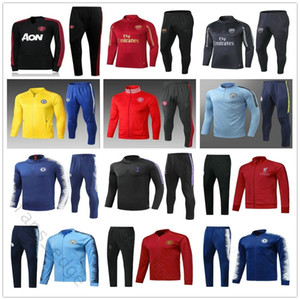 2018 2019 Soccer Tracksuit Set Man Adult Mens Custom Any Name Any Number Home Away Third Football Jacket