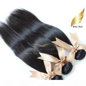Cheap Brazilian Hair Peruvian Indian Malaysian European Cambodian Straight Weaves Human Hair Extensions 3 Pcs Bella Hair Drop Shipping 8A