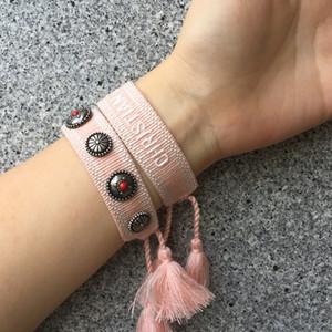 Gioielli Super Spring Trends amicizia braccialetti 5PCS realizzato con materiali di cotone in tessuto con nappe accoglienti per uomini donne e ragazzi