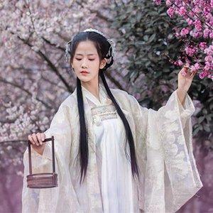 Chinois traditionnel Costume Vêtement National Hanfu Tenue de scène Robe Han ancienne dynastie Princesse de danse folklorique Costume DQS1625