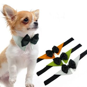 Animaux Ties chien Stripe Bow Cravates réglable chaton chiot chat animal jouet enfant Noeud papillon cravate xhCFYZ104