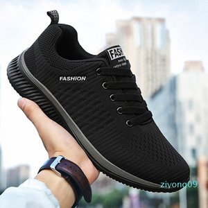 ZHENBAILI Plus Size 36-45 Men Women Mesh Knit Breathable Lightweight Lace Up Flat Casual Shoes 2019 Sneakers Walking Trainers z09