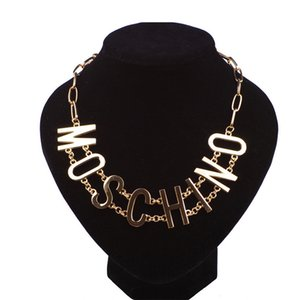 Панк-стиль женское ожерелье с логотипом модного бренда сплава ожерелье для дам хип-хоп стиль ожерелье для бара