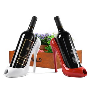 Alto talón del zapato del estante del sostenedor del vino de la botella de vino con estilo rack cesta de regalo de accesorios de cocina Inicio La Barra de Herramientas de almacenamiento de titular Rojo