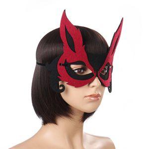 Fox Lady Half Face Animal Party Mask Festive Supplies