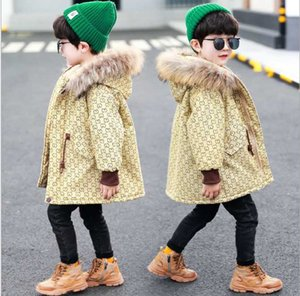 Jacket 2020 Winter Warm Parkas Coats Thicken Natural Fur Collar Hooded Outerwear Baby Boys Girls Clothes