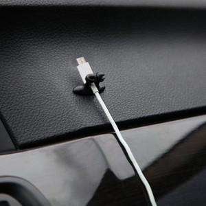 다기능 접착제 차량용 충전기 선 버클 클램프 헤드폰 USB 케이블 자동차 인테리어 액세서리 클립 도착하는 새로
