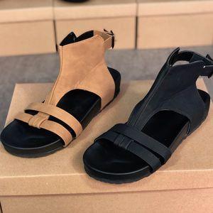 Diseñador de tirón de las mujeres de la sandalia de playa de verano al aire libre los fracasos de cuero del tobillo de los zapatos de patente de partido de las sandalias del deslizador de señoras de la boda de diapositivas sandalias