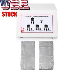 US-Stock-3 Zonen Far Infrared FIR Sauna Blanket Detox Slimming Spa Gewicht-Verlust-Maschine Schönheit Maschine