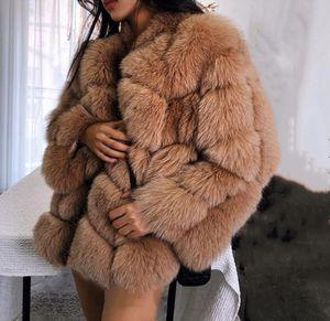 Lisa Colly Kunstpelz Winter Frauen faux Pelzmantel Jacke langen Abschnitt warmen Mantel Overcoat Thick Pelze Jacke outwear