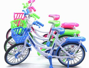 Alloy Mini vélos Toy - Finger Bike pour Collections (Ladies Bike Vert / Rose / Bleu))