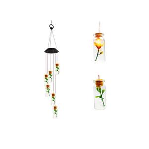 LED Solar Wind Chime Лампы Зеленый Открытый Солнечный питание колибри лампа Ветер Chime Свет для дома Декор сада