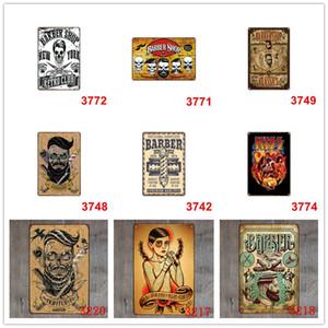 Vintage FRISEURSALON Metallplakat Cafe Bar Pub Blechschild Plaque Retro Haar und Shave Beard Eisenplatten Printing Home Decor