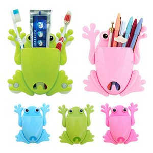 Cartoon Sucker Frog Toothbrush Holder Wall Suction Hook Tooth Brush Holder Home Decor for Kids Bathroom Accessories