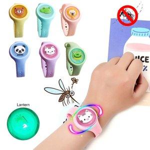 Silicone fascia repellente della zanzara estate zanzara scoperta Mini fumetto dei bambini di Anti Mosquito Bracciale Braccialetti OOA8111