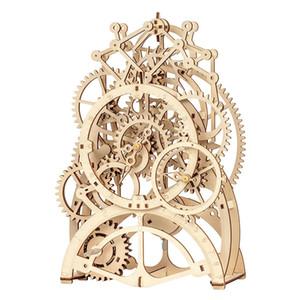 بنين 3D ألعاب خشبية لغز الميكانيكية والعتاد محرك بندول ساعة الجمعية نموذج البناء كيت لعب الأطفال الكبار هدايا عيد الميلاد 07