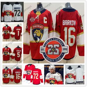 2020 Florida Panthers # 16 Aleksander rkov 25 Jersey 72 Sergei Bobrovsky 1 Roberto Luongo 5 Aaron Ekblad Kırmızı Blank Erkekler Gençlik Kid Kadınlar