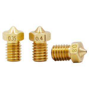 10 pcs E3D V5 V6 Bec M6 fileté Accessoires d'imprimante 3D Full Metal Boquill 0.3mm / 0.4mm / 0.5mm / 0.6 / 0.8 / 1.0 pour 1.75mm filamnet