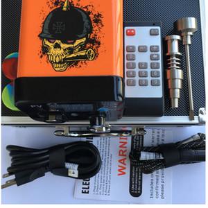 Mais novo Menovo Elétrico Enail Prego Controle Remoto Dabber Caixa de Controle de Temperatura Com Ti Prego Carb Cap Para Tubulações De Água Bong Wax Vaporizador