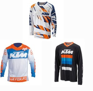 KTM انحدار عبر البلاد الرجال تي شيرت جيرسي ركوب الدراجات في ذات أكمام طويلة الدراجة الجبلية الصيف على الطرق الوعرة دراجة نارية الملابس