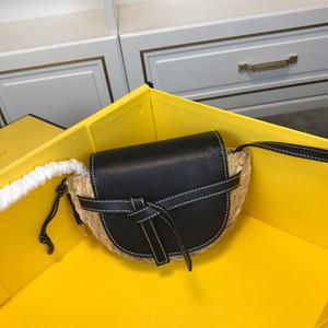sacs tissés de selle design luxe dame avec arc épaule à la mode d'un totes sacs véritables sacs de ceinture en cuir véritable