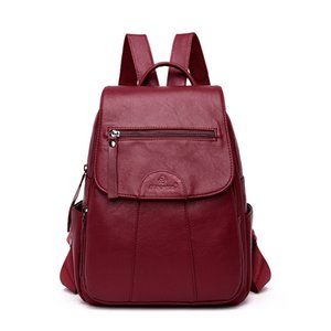 WESTCREEK  PU Leather Backpack Women High Quality Preppy Style School Bags for Girls Travel Casual Daypack Female Bagpacks