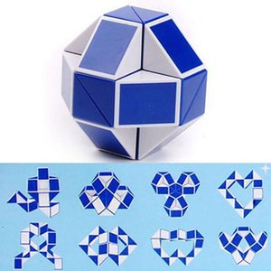Mini Magic Cube New Hot Snake Shape Toy Game 3D Cube Puzzle Twist Puzzle Toy Gift Random Intelligence Toys Supertop Party Favor WX-T17