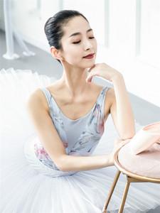 Stampa di balletto di danza Body Donne 2019 nuova estate di arrivo Ginnastica Danza classica Body Costume adulto di alta qualità