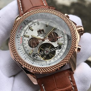 Couro Starp ouro luxo de Negócios Moda Mens Relógios Mecânicos autoamtic grife movimento relógios de pulso de aço inoxidável Assista