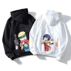 Frauen der Männer Paar Harajuku Hinata Unisex Hoodies Paar Verschleiß japanischen Anime Printed Male Hoodie Street Art und Weise beiläufige Sweatshirts