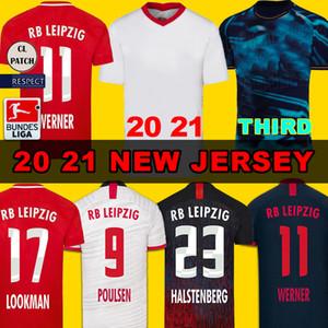 20 21 RBL الرئيسية الأبيض WERNER كرة القدم جيرسي فورسبرغ 2020 قميص RBL OLMO كرة القدم NKUNKU SABITZER قمصان كرة القدم شيك مجموعات