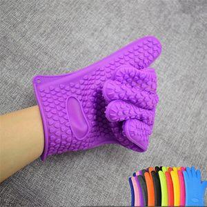 Противоскользящие силиконовые перчатки точка микроволновая печь рукавицы противоскользящие формы для выпечки кухня кулинария торт выпечки инструменты изолированные перчатки 60шт T1I1716
