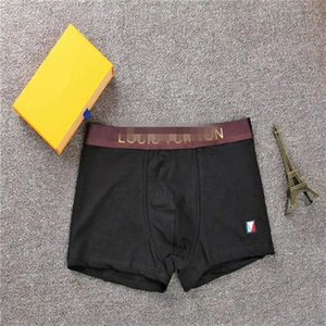 2020 marca Designer Breve Mens Boxer Cueca For Man Underpanties Sexy Underwear Mens Boxers Louis Vuitton Underwear Shorts Masculino
