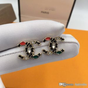 CC Luxury Designer Earrings Famous Letter Women Ear Stud Exquisite Charming Luxury Earring Fashion Jewelry with Original Gift Box