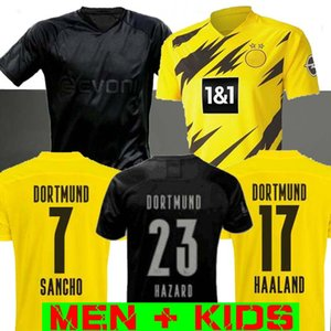 MAN + KIDS 19 20 21 Dortmund Borussia REUS M.GOTZE PACO ALCACER camisetas de fútbol 2019 2020 Blackout SANCHO Hummels HAALAND camisa de deporte 2020