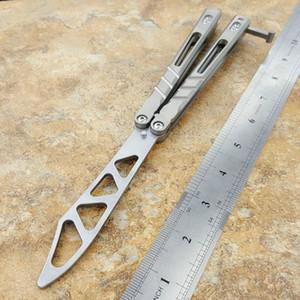 sándwich de balisong D2 de titanio lámina maneta mariposa formación de formadores cuchillo no artes marciales afilados Crafts Collection knvies el regalo de Navidad