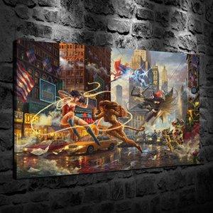 HD Stampato Thomas Kinkade Pittura a olio Decorazione della casa Arte della parete su tela The Women of DC Unframed