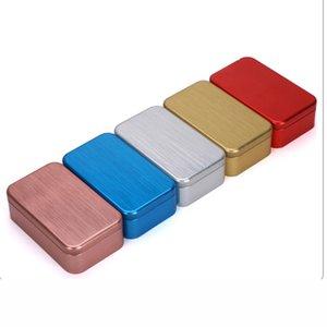 Xin Jia Yi Packaging Custom Food Grade Tin Can Black Metal Square Boxes Aluminum Tea Tin Box